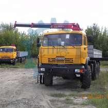 Автомобиль бортовой с КМУ AMCO-VEBA на шасси КАМАЗ, в Сургуте