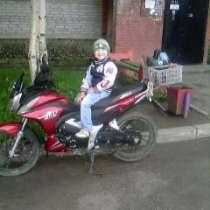 Мотоцикл красного цвета Jazz 125CC, в Канске