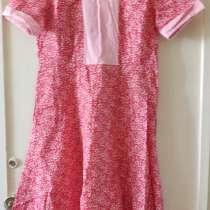 Платье ситцевое красное с розовыми вставками, р.48-50, в г.Брест
