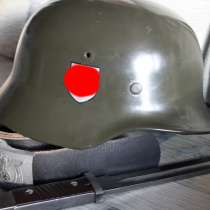 Каска немецкая М35, в Лесной
