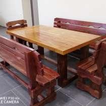 Комплект: Стол, скамейки, стулья, в Иванове
