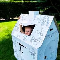 Детский игровой картонный домик-раскраска для игр, в г.Алматы