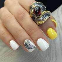 Продается серебряное кольцо с гранатом. ручная работа, в Севастополе