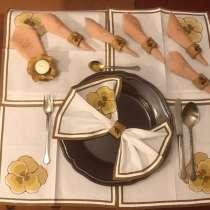 Кольца для салфеток и подсвечник. Украшение праздничн. стола, в Москве