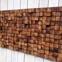 Деревянная мозаика на стену, в Красноярске