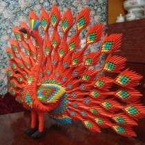 Красный павлин из 3 d модульного оригами, в г.Мелитополь