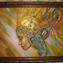 Интерьерная картина Дева (живопись акрил, фактурная паста), в Москве
