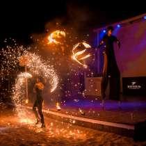 Огненное фаер шоу, аниматоры, мимы, в Евпатории
