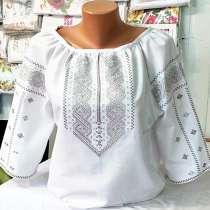Вышиванка женская машинная вышивка крестиком и гладью, в г.Коломыя