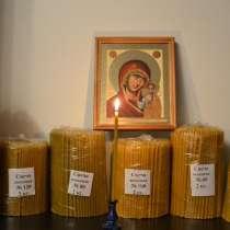Свечи полувосковые, восковые медовые, праздничные восковые, в г.Асан-си