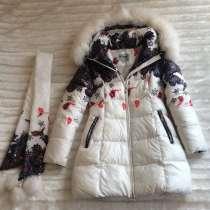 Зимние пуховое пальто (на девочку), в Бронницах
