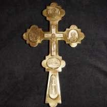 Крест напрестольный серебряный. 1884 год мастерская Шелапутина Дми, в Санкт-Петербурге