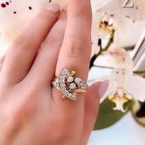 Золотое кольцо с бриллиантами, в Москве