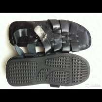 Сандали мужские новые размер 45 44 кожа чёрные подошва резин, в Москве