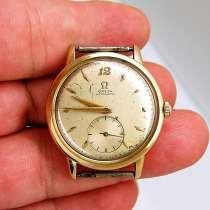 Золотые винтажные мужские часы 14k Omega Automatic, в Москве