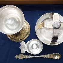 Старинный евхаристический набор из 5 предметов. Россия, XIXв, в Санкт-Петербурге