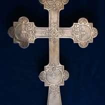 """Старинный напрестольный крест. Серебро """"84"""". 1890е, в Санкт-Петербурге"""