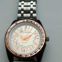 Часы ''Armani''мужские б/у с хромированным браслетом, в г.Минск