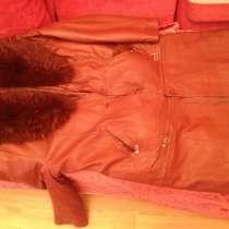 Женское утеплённое пальто кожа три в одном, в Нижнем Новгороде