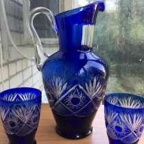 Кувшин и 2 стакана хрусталь. Чехия, в Краснодаре