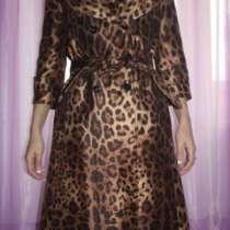Плащ новый Dolce&Gabbana Италия размер 46 М леопард весна, в Москве