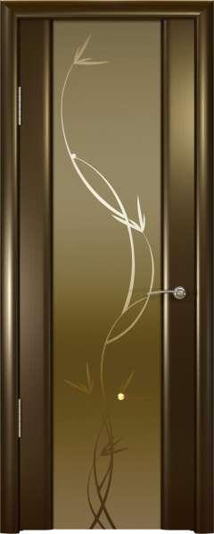 Дверь межкомнатная Океан Шторм-3 Гламур Растение, шпон венге