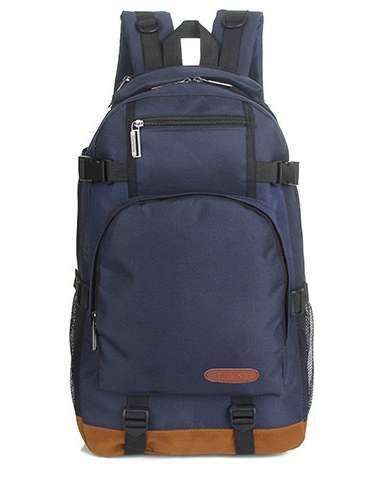 Черный синий мужской рюкзак унисекс