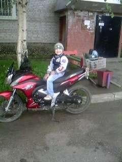 Мотоцикл красного цвета Jazz 125CC