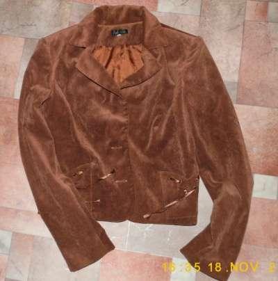 Пиджак вельвет мягкий коричневый
