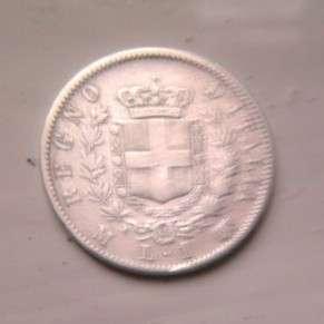 1 лира 1863-го года Серебро