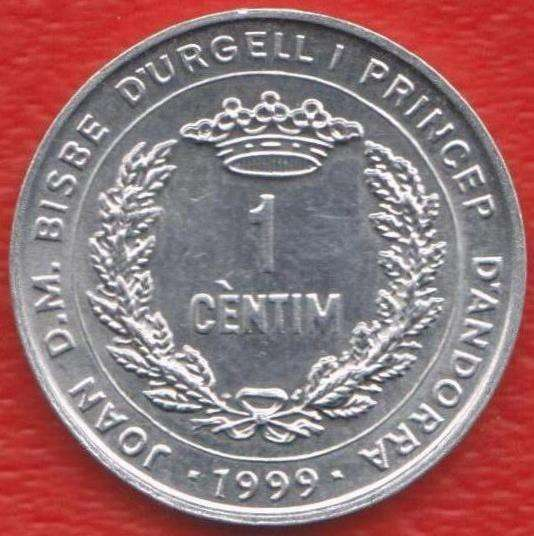 Андорра 1 сантим 1999 г. ФАО