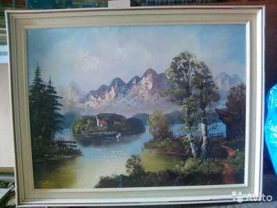 Картина выполнена маслом на холсте