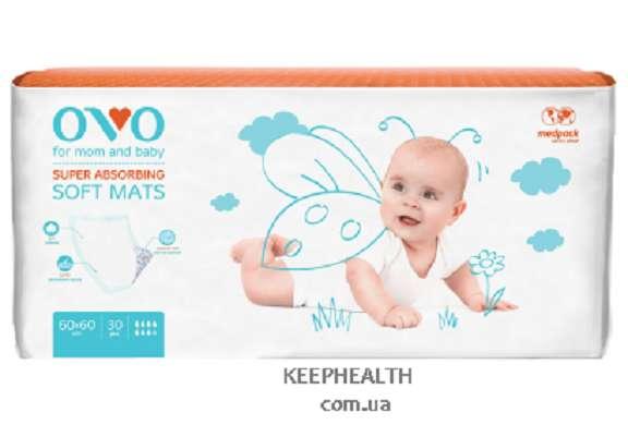 OVO одноразовые пеленки для новорожденных, 60×90 см, 1840 мл
