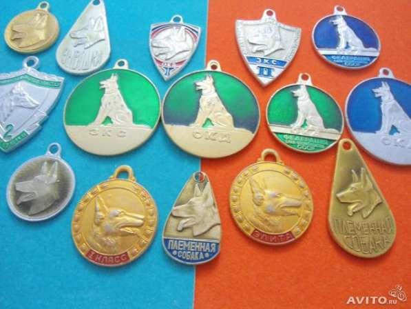Собачьи медали, жетоны СССР 15 штук