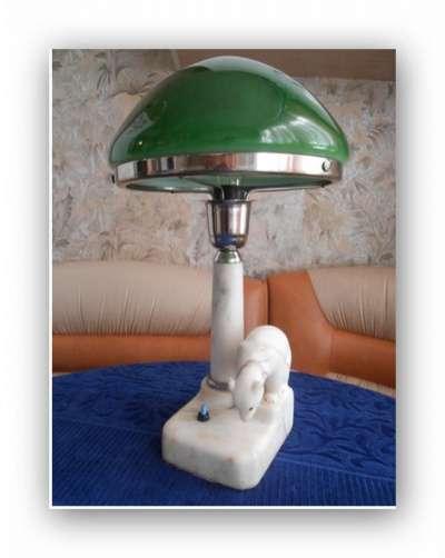 Лампа наст. 1950-х из мрамора. и др.