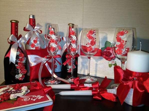 Свадебные бокалы и наборы ручной работы