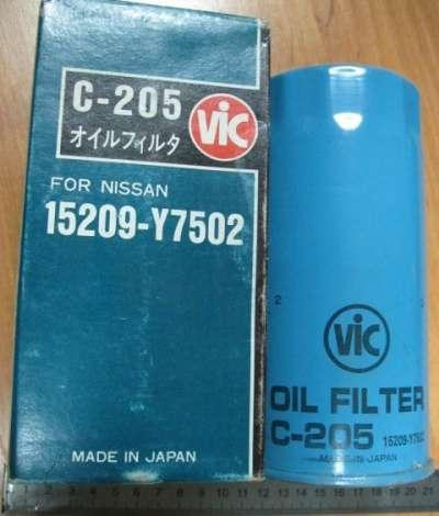 автозапчасти Фильтр масляный C-205 VIC