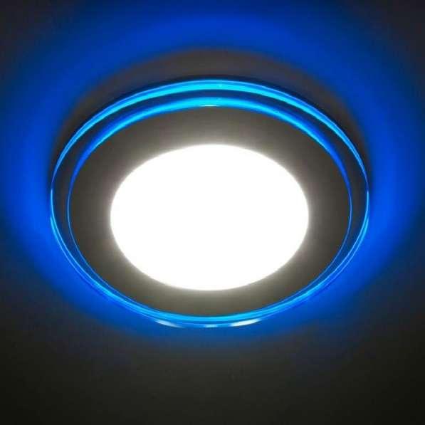 Светильник с контурной синей подсветкой 12 Вт