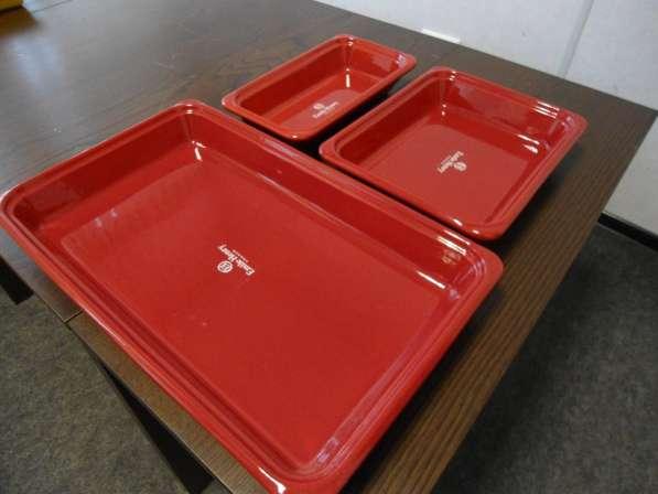 Керамическая гастроемкость 1/3-65 красная, 325х175х65мм