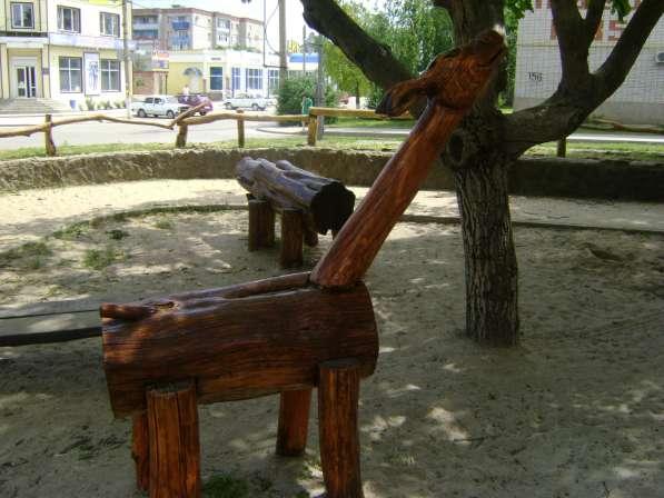 СКУЛЬПТУРА для ландшафта из дерева, камня, метала, памятники в Краснодаре