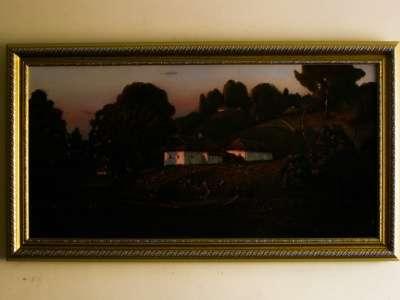 Вечерний пейзаж. Картина малом Художник Виталий Красов