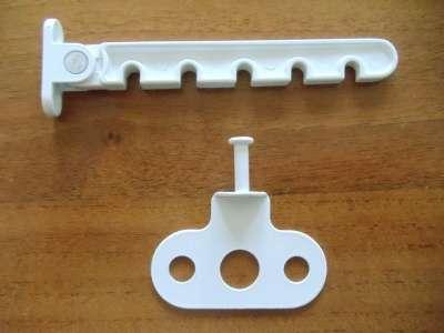Ограничитель открывания металлический, белый, коричневый