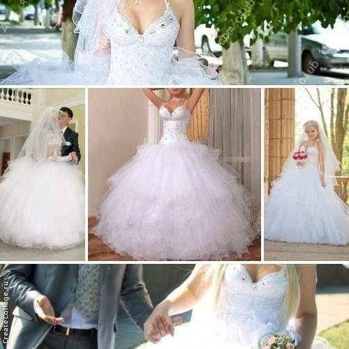 Продам новое свадебное платье + чехол и кринолин на 4 кольца