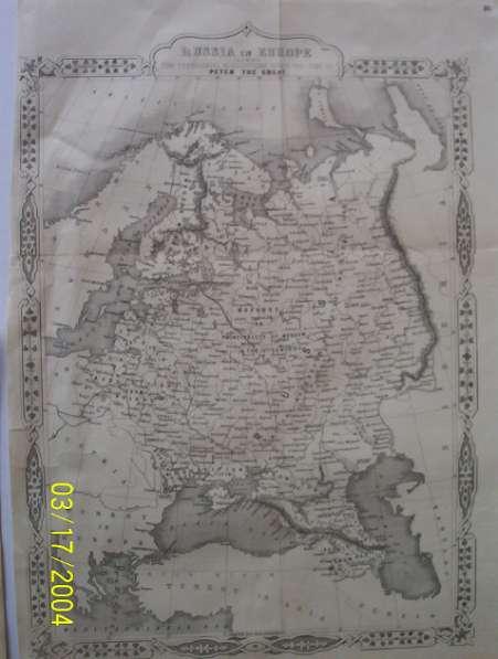 Карта Россия в Европе [1855?]