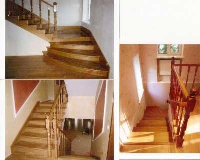 Лестницы из массива твёрдых сортовдерева