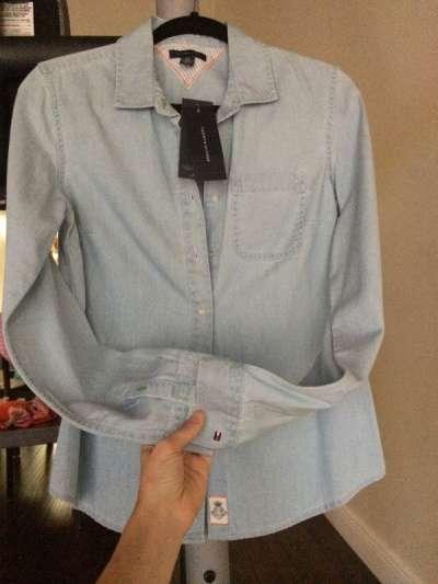 Рубашку новую с этикеткой TOMMY HILFIGER