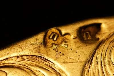 Тарель евхаристическая. Серебро. 1762 г. «ПВК» (производитель Васи