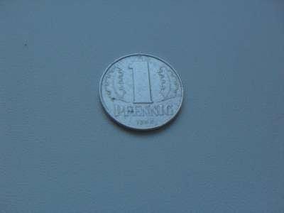 Монета 1 Пфеннинг 1963 год Германия ГДР