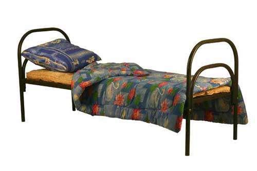 Железные армейские кровати, одноярусные металлические для больниц, от производителя.