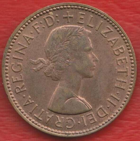 Великобритания Англия 1/2 пенни 1967 г. Елизавета II полпенн в Орле